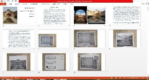 1763426 - پاورپوینت خانه طباطبایی ها و ورد معماری بیونیک